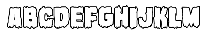 Marsh Thing Bold Outline Font LOWERCASE