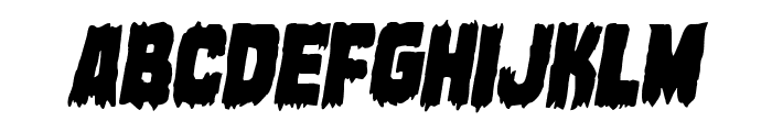 Marsh Thing Condensed Italic Font LOWERCASE