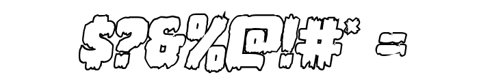 Marsh Thing Outline Italic Font OTHER CHARS