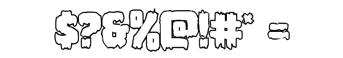 Marsh Thing Outline Font OTHER CHARS