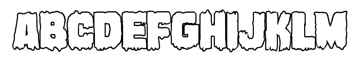 Marsh Thing Outline Font LOWERCASE