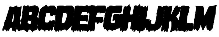 Marsh Thing Overlap Italic Font UPPERCASE