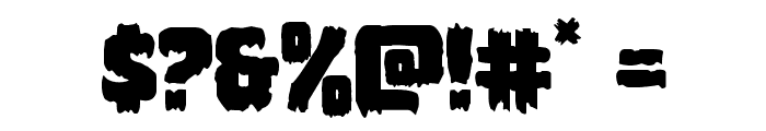 Marsh Thing Regular Font OTHER CHARS