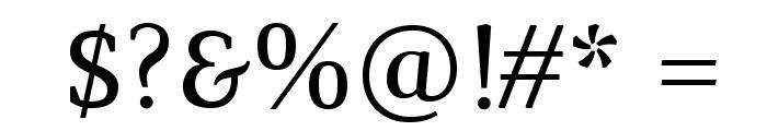 Marta-Italic Font OTHER CHARS