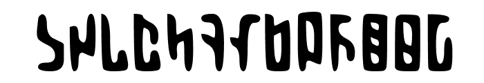 Martian Hull Markings Gloopy Font LOWERCASE