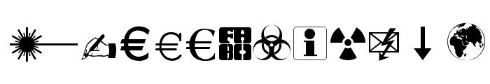 Martin Vogel's Symbols Font LOWERCASE