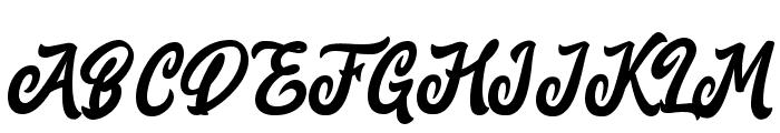 MarttabuckDEMO Font UPPERCASE
