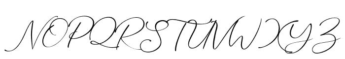 Marvelous Script Demo Font UPPERCASE
