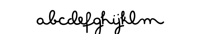 MasanaScript-1Propia Font LOWERCASE