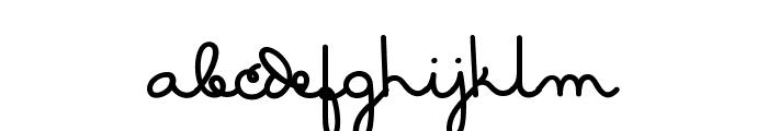 MasanaScript-2Grata Font LOWERCASE