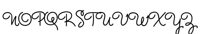 MasanaScript-3Maxima Font UPPERCASE
