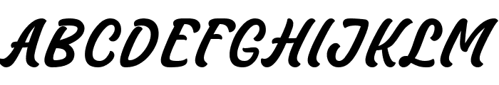 Masbro Font UPPERCASE