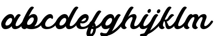 Masbro Font LOWERCASE