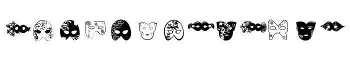 Mascaras de Veneza Font UPPERCASE