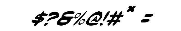 Masked Marvel Italic Font OTHER CHARS