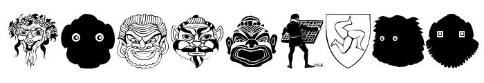 MaskenballDrei Font OTHER CHARS