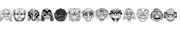 MaskenballDrei Font UPPERCASE