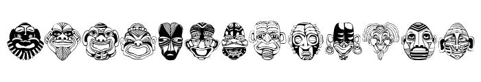 MaskenballDrei Font LOWERCASE