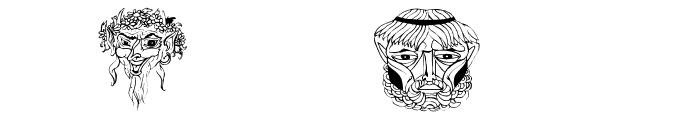 MasksMKThree Font OTHER CHARS