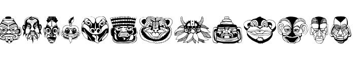 MasksMKThree Font UPPERCASE