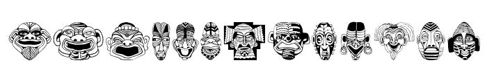 MasksMKThree Font LOWERCASE