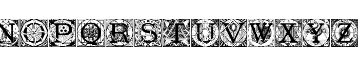 Masonic Tattegrain Font LOWERCASE