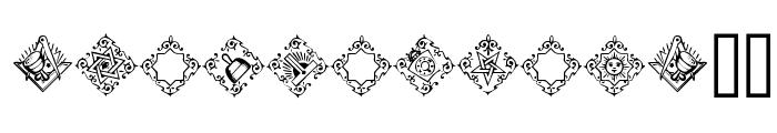 Masonic Font UPPERCASE