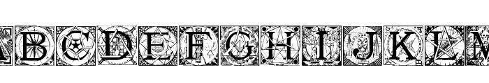 MasonicTattegrain Font UPPERCASE