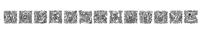 MasselleAMShadow Font LOWERCASE