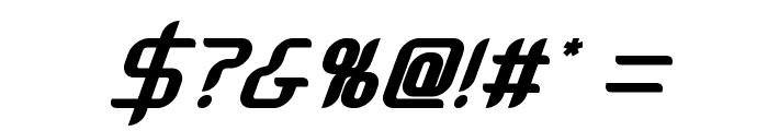 Massimo BoldOblique Font OTHER CHARS