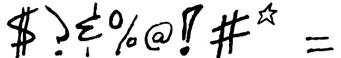 Mastalock Font OTHER CHARS