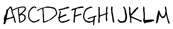 Mastalock Font UPPERCASE