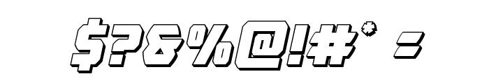 Master Breaker 3D Italic Font OTHER CHARS