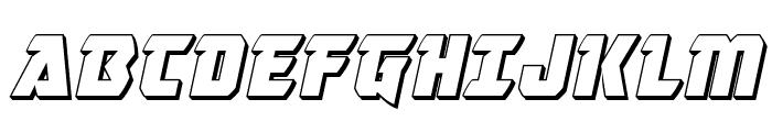 Master Breaker 3D Italic Font UPPERCASE