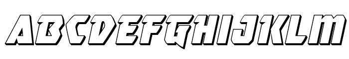 Master Breaker 3D Italic Font LOWERCASE