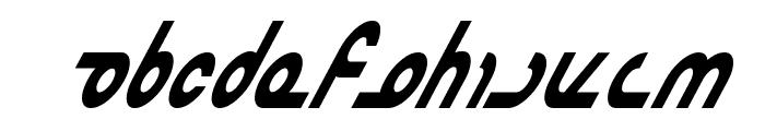 Masterdom Condensed Bold Italic Font UPPERCASE