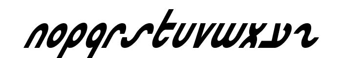 Masterdom Condensed Bold Italic Font LOWERCASE