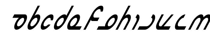 Masterdom Condensed Italic Font UPPERCASE