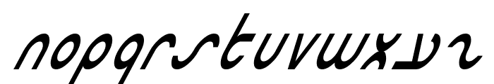 Masterdom Condensed Italic Font LOWERCASE