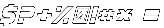 Masterforce Hollow Font OTHER CHARS