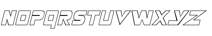 Masterforce Hollow Font UPPERCASE