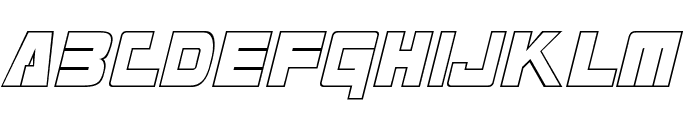 Masterforce Hollow Font LOWERCASE