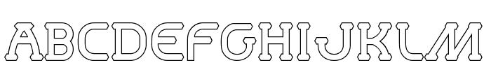 MastumHollow Font UPPERCASE