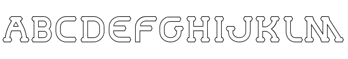 MastumHollow Font LOWERCASE