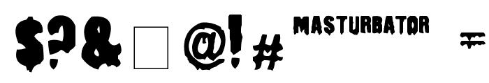Masturbator Regular Font OTHER CHARS