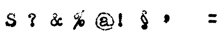 Maszyna Royal Dark Font OTHER CHARS