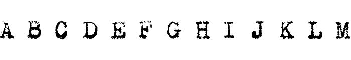 Maszyna Royal Dark Font UPPERCASE