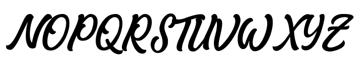 Matane Personal Use Only Script Font UPPERCASE