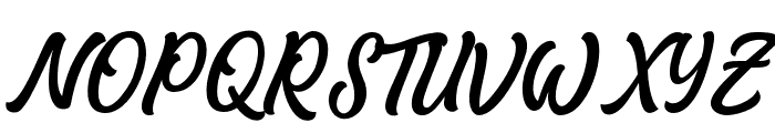 MatanePersonalUseOnly-Script Font UPPERCASE