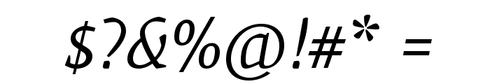 Mate-Italic Font OTHER CHARS